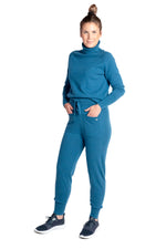Load image into Gallery viewer, Inari Women's petrol cashmere pants - front side - 100% high-quality cashmere - Inari-clothing.fi