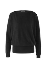 Load image into Gallery viewer, Inari Women's black cashmere O-neck sweater - front side - 100% high-quality cashmere