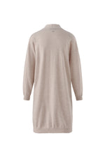 Load image into Gallery viewer, Inari Women's beige cashmere cardigan- back side - 100% high-quality cashmere