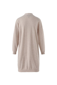 Inari Women's beige cashmere cardigan- back side - 100% high-quality cashmere
