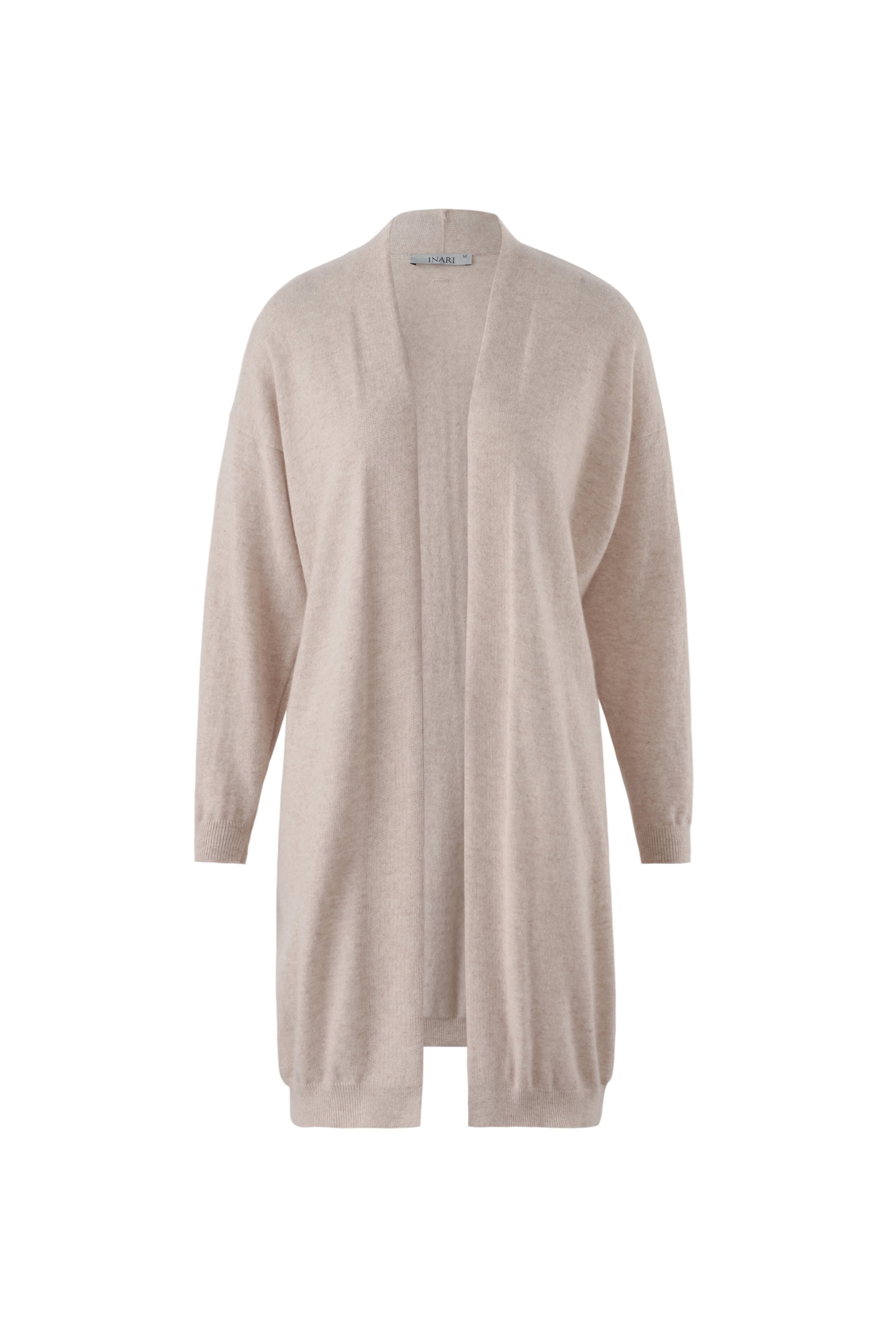 Inari Women's beige cashmere cardigan- front side - 100% high-quality cashmere