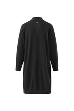 Load image into Gallery viewer, Inari Women's black cashmere cardigan - front side - 100% high-quality cashmere
