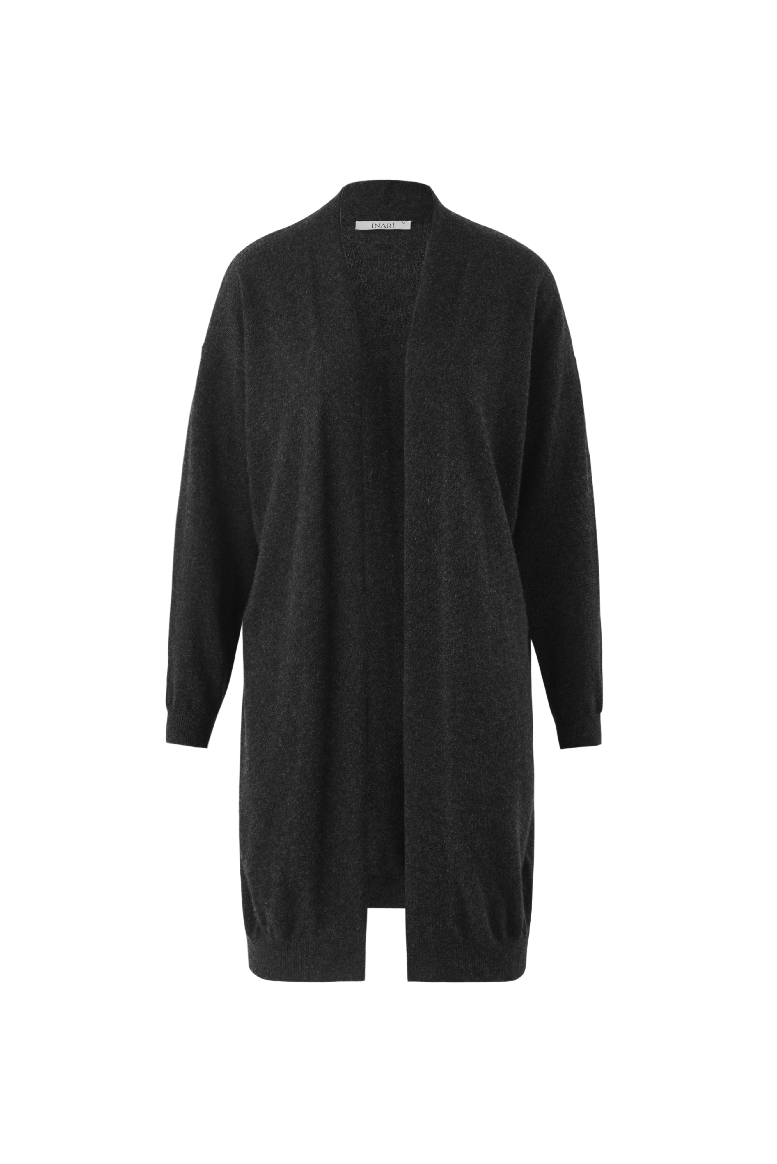 Inari Women's black cashmere cardigan - front side - 100% high-quality cashmere