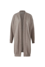 Lataa kuva Galleria-katseluun, Inari Women's brown cashmere cardigan- front side - 100% high-quality cashmere