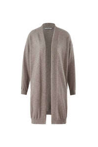 Inari Women's brown cashmere cardigan- front side - 100% high-quality cashmere