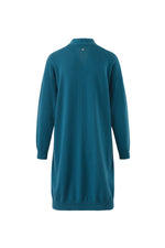 Load image into Gallery viewer, Inari Women's petrol cashmere cardigan - back side - 100% high-quality cashmere
