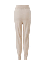 Load image into Gallery viewer, Inari Women's beige cashmere pants - back side - 100% high-quality cashmere - Inari-clothing.fi