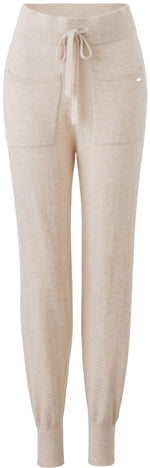 Load image into Gallery viewer, Inari Women's beige cashmere pants - front side - 100% high-quality cashmere - Inari-clothing.fi