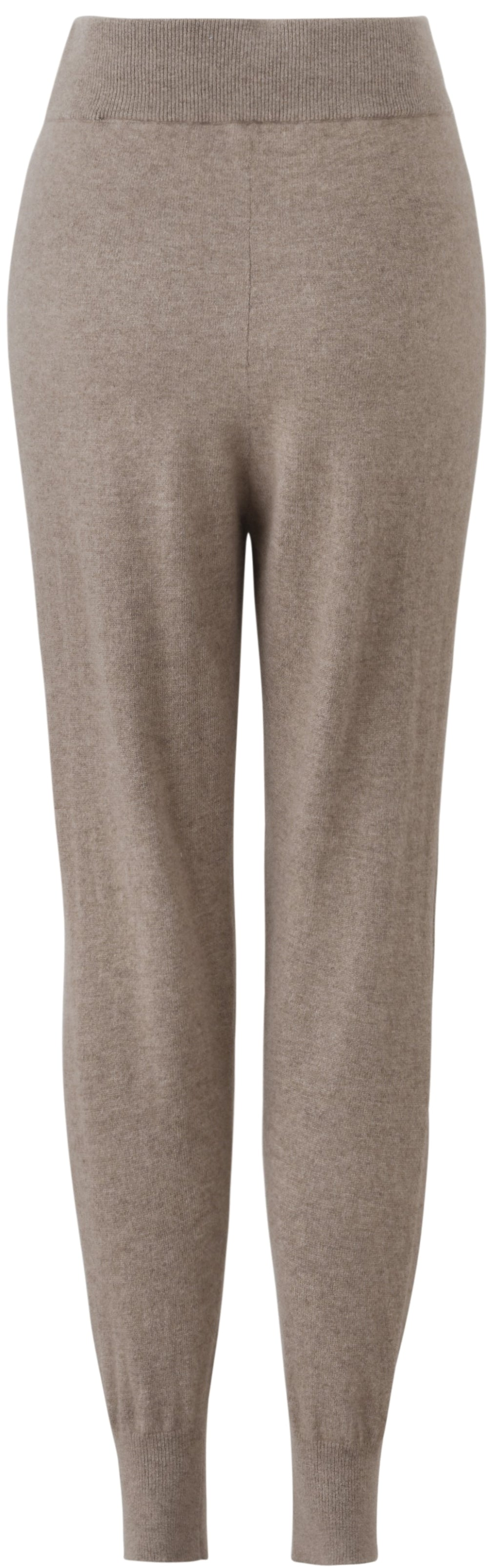 Inari Women's brown cashmere pants - back side - 100% high-quality cashmere - Inari-clothing.fi