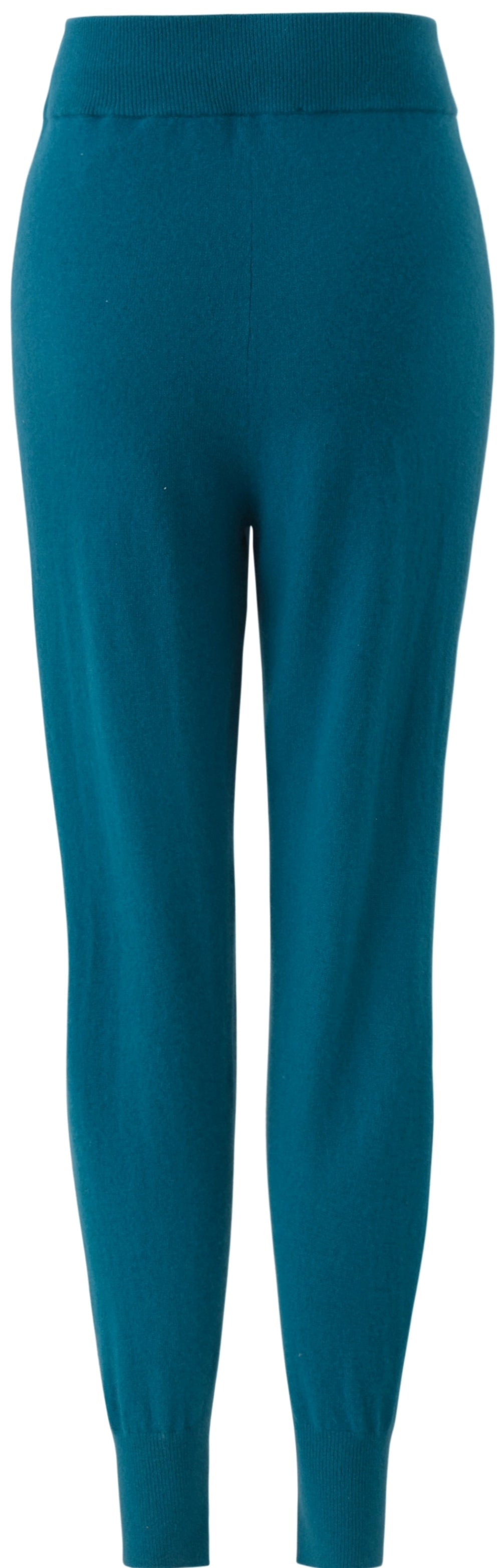 Inari Women's petrol cashmere pants - back side - 100% high-quality cashmere - Inari-clothing.fi