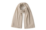 Load image into Gallery viewer, Inari Women's beige cashmere scarf / shawl - 100% high-quality cashmere