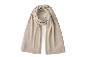Inari Women's beige cashmere scarf / shawl - 100% high-quality cashmere