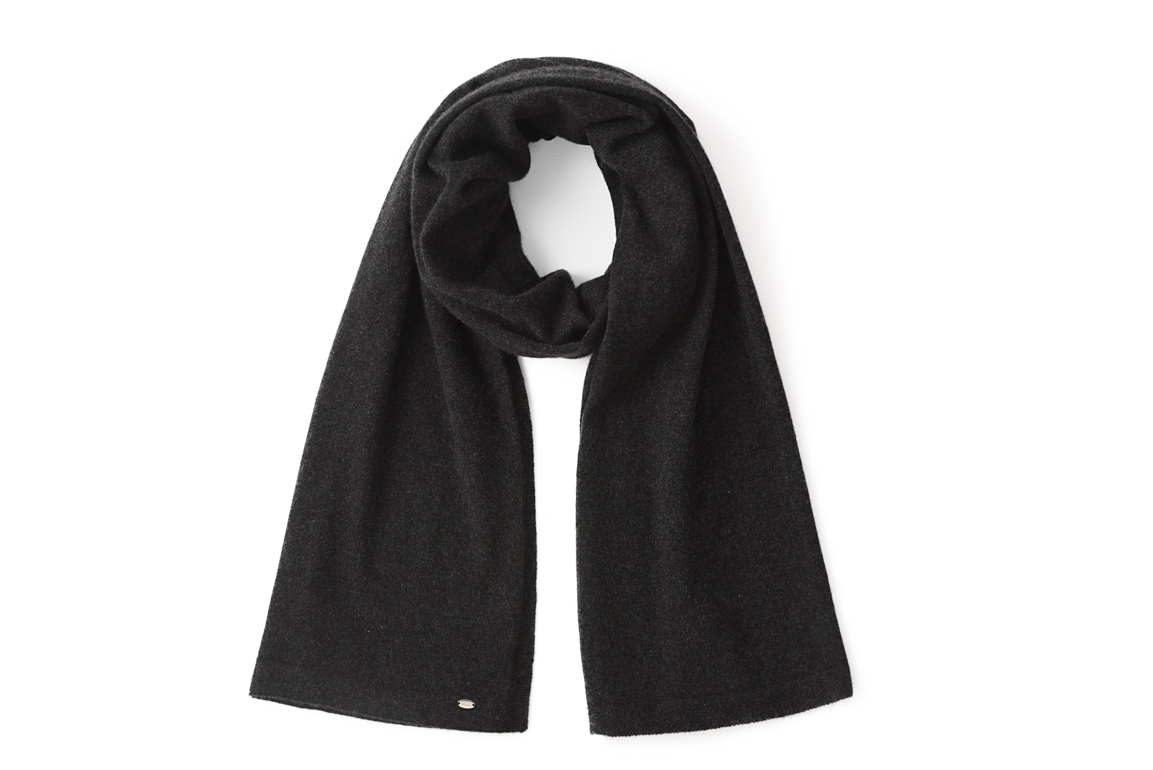 Inari Women's black melnage cashmere scarf / shawl - 100% high-quality cashmere