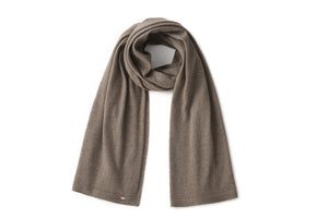 Inari Women's brown cashmere scarf / shawl - 100% high-quality cashmere