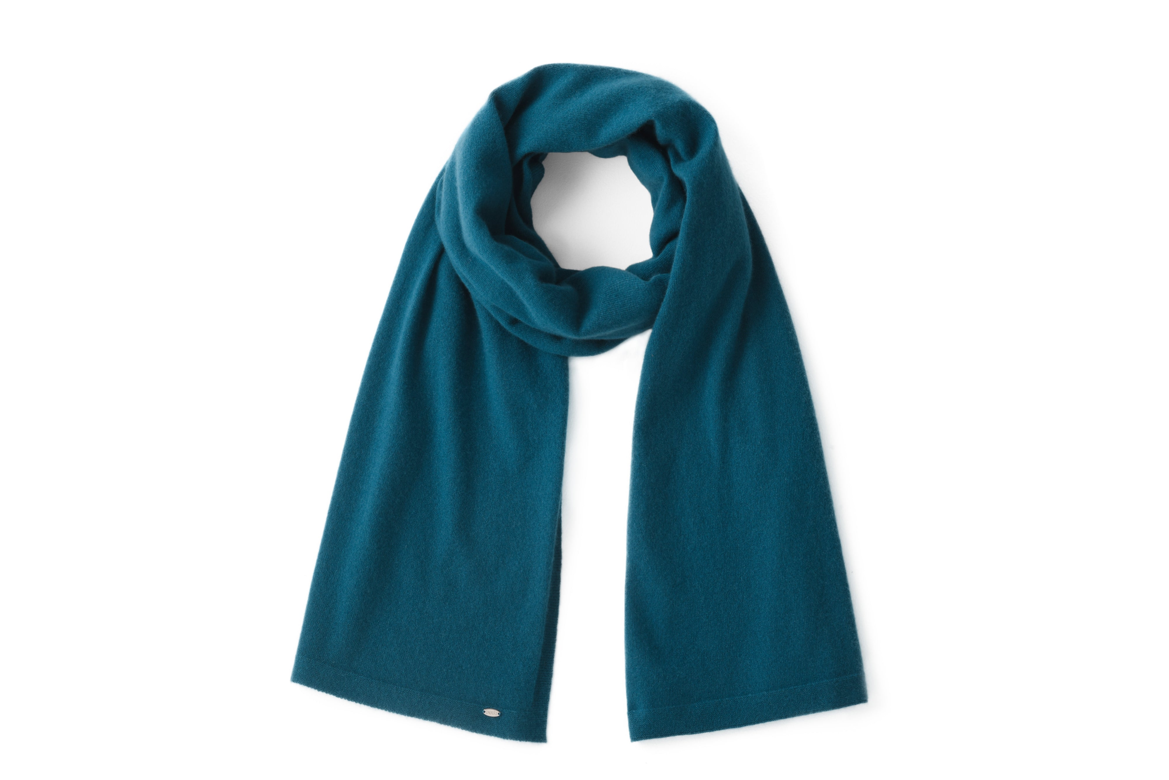 Inari Women's petrol cashmere scarf / shawl - 100% high-quality cashmere