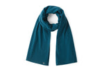 Load image into Gallery viewer, Inari Women's petrol cashmere scarf / shawl - 100% high-quality cashmere