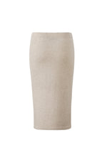 Lataa kuva Galleria-katseluun, Inari Women's beige cashmere skirt - back side - 100% high-quality cashmere