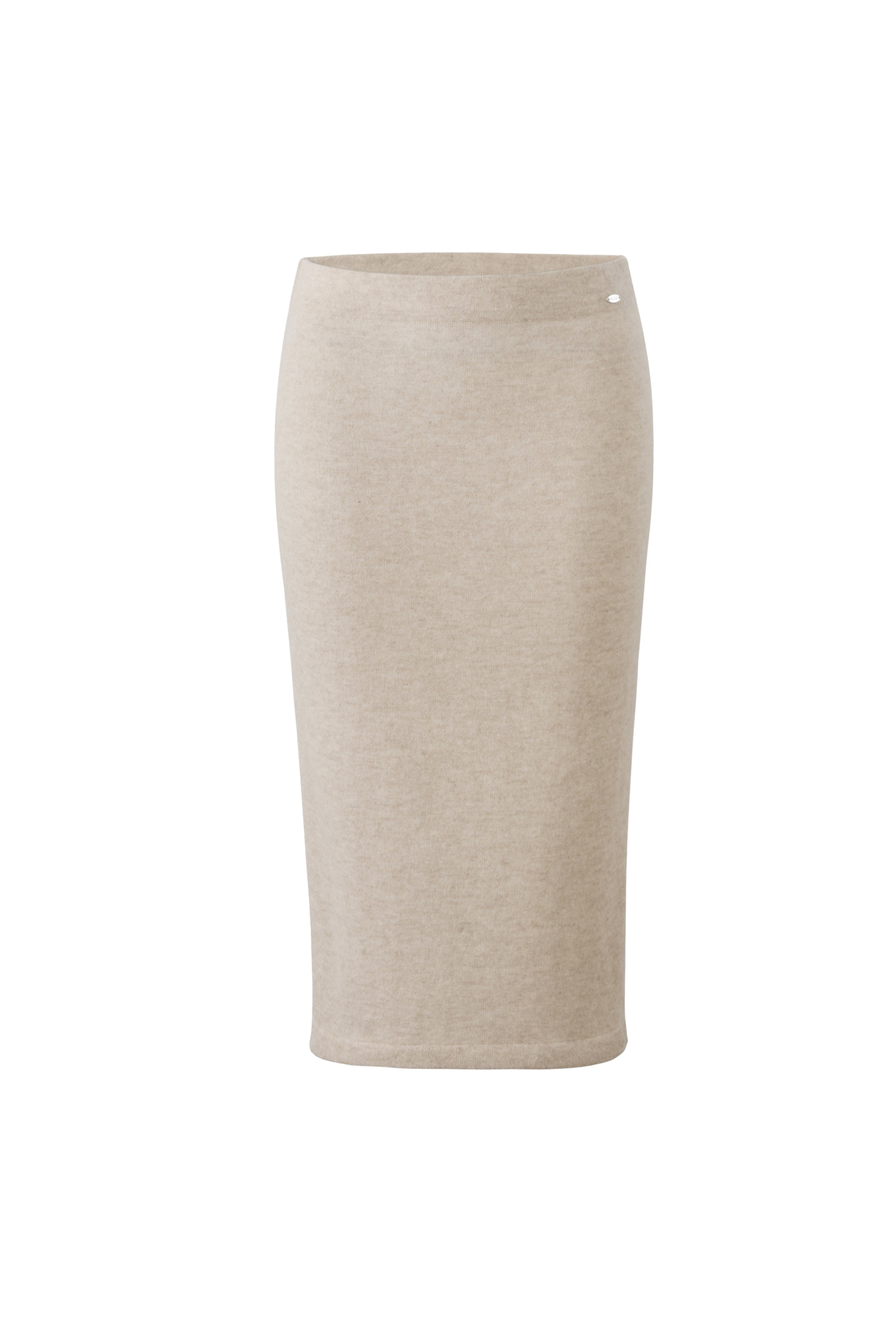 Inari Women's beige cashmere skirt - front side - 100% high-quality cashmere