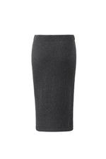 Lataa kuva Galleria-katseluun, Inari Women's black cashmere skirt - back side - 100% high-quality cashmere