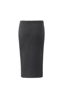 Inari Women's black cashmere skirt - back side - 100% high-quality cashmere
