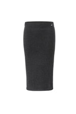Lataa kuva Galleria-katseluun, Inari Women's black cashmere skirt - front side - 100% high-quality cashmere