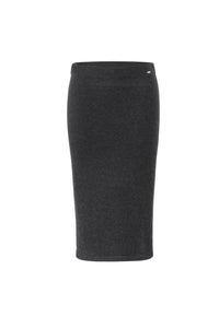 Inari Women's black cashmere skirt - front side - 100% high-quality cashmere