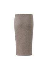 Lataa kuva Galleria-katseluun, Inari Women's brown cashmere skirt - back side - 100% high-quality cashmere