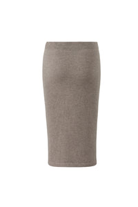 Inari Women's brown cashmere skirt - back side - 100% high-quality cashmere
