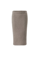 Lataa kuva Galleria-katseluun, Inari Women's brown cashmere skirt - front side - 100% high-quality cashmere