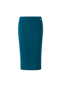 Inari Women's petrol cashmere skirt - front side - 100% high-quality cashmere
