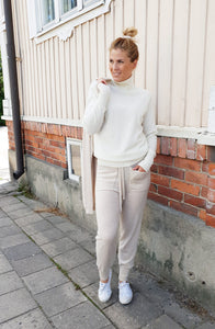 Women's beige cashmere pants - 100% high quality cashmere - Inari-clothing.fi