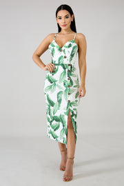 Palms Button up Midi