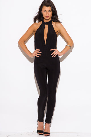 Vivian Black Backless Jumpsuit