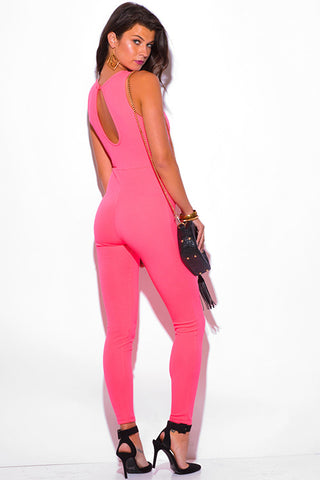 Miami Vice Neon Pink Jumpsuit