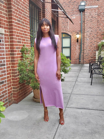 Mya Purple Midi Dress