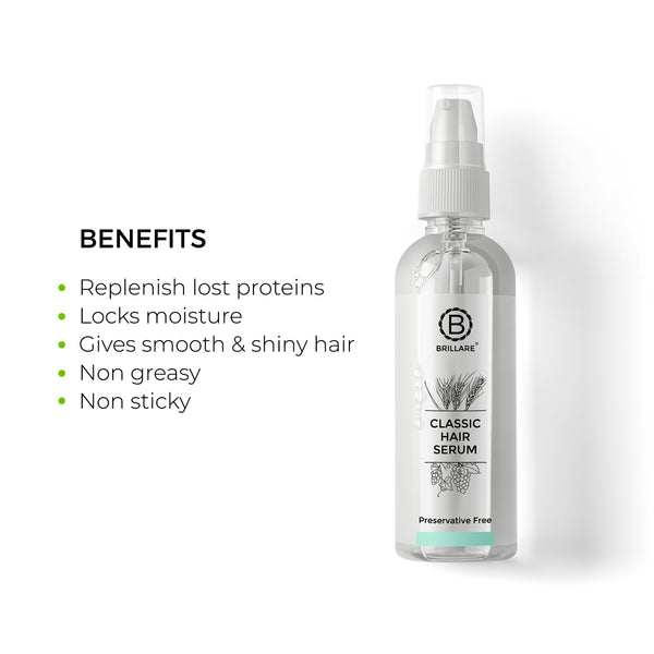Image showing comparison of routine available hair serum in market along with Brillare Hair Serum to replenish depleted hair proteins with effect of #SlowNaturalHealing