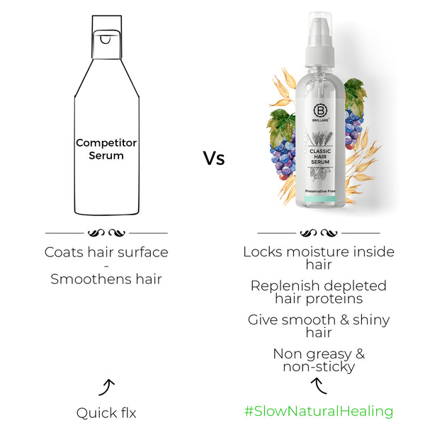 Image showing the use of 100% vegan ingredients for Brillare Hair Serum