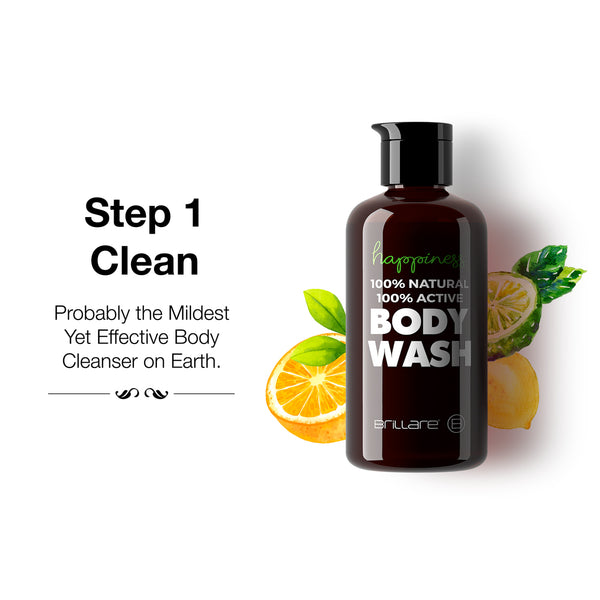 Brillare 100% Natural Body Wash for healthiest cleansing experience