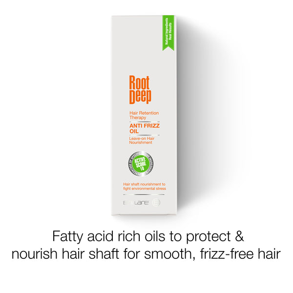 Image of Root Deep Anti Frizz Oil loaded with fatty acid rich oils to nourish hair shaft for smooth, frizz-free hair
