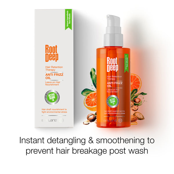 Image of Root Deep Anti Frizz Oil provides instant detangling and smoothening to prevent hair breakage post wash
