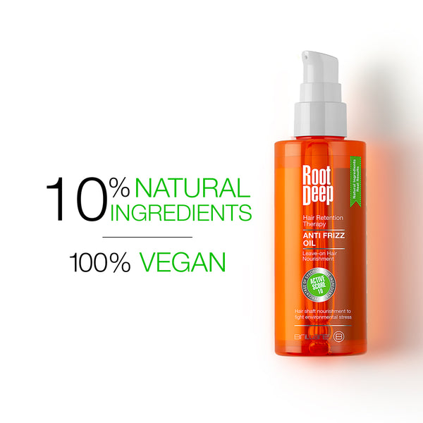 Image of Root Deep Anti Frizz Oil made with 10% Natural Ingredients and 100% Vegan Ingredients
