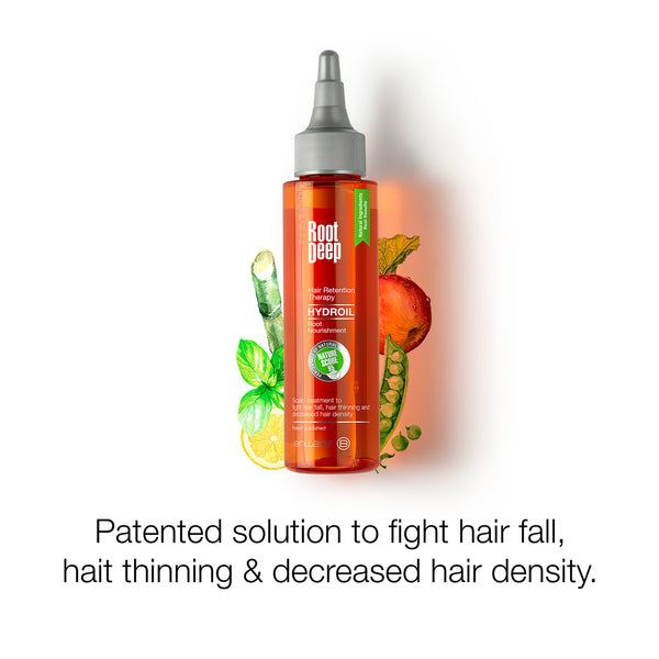Image showing Root Deep Hydroil a patented solution to fight hair fall, hair thining and decreased hair density