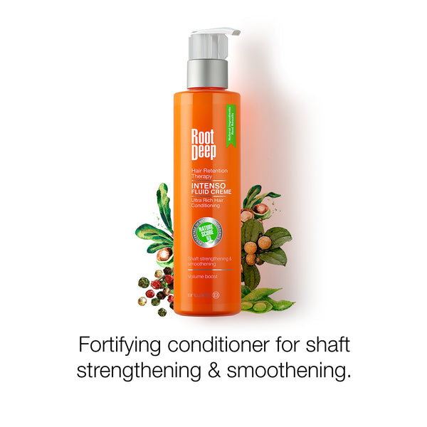 Root Deep Intenso Fluid Creme  a fortifying conditioner for shaft strengthening and smoothening