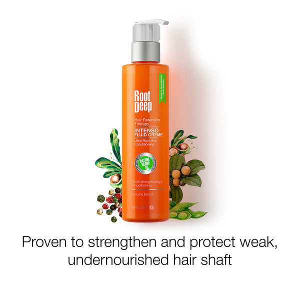 Root Deep Intenso Fluid Creme a proven conditioner to strengthen and protect weak undernourished hair shaft