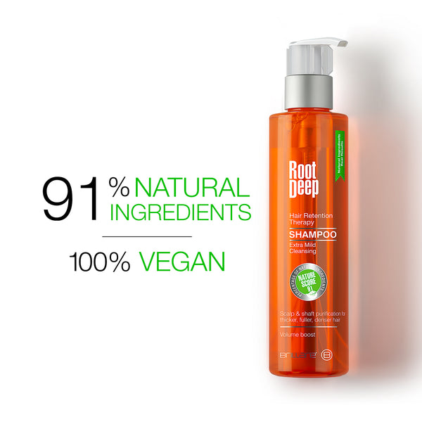 Image of Root Deep Shampoo with 91% Natural Ingredients and 100% Vegan ingredients