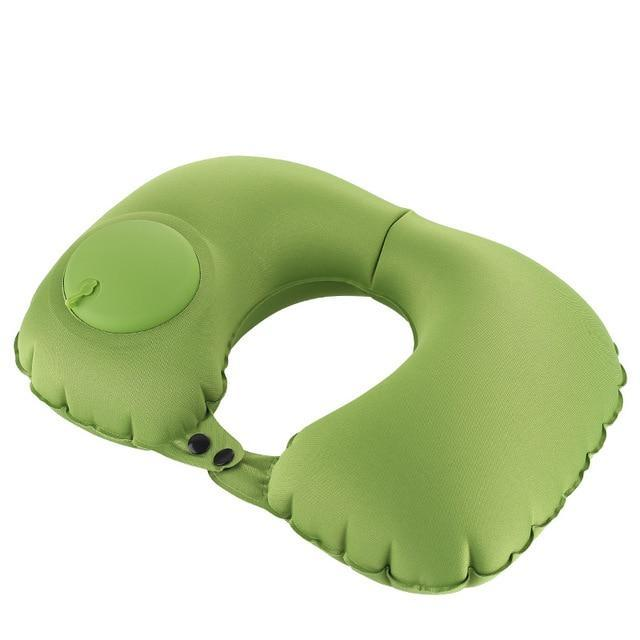 Automatic Inflatable Travel Pillow AmericanGalore Green