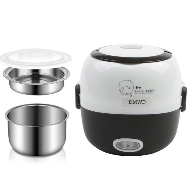 Best Seller Electric Portable Lunch Box Rice Cooker AmericanGalore Coffee Color
