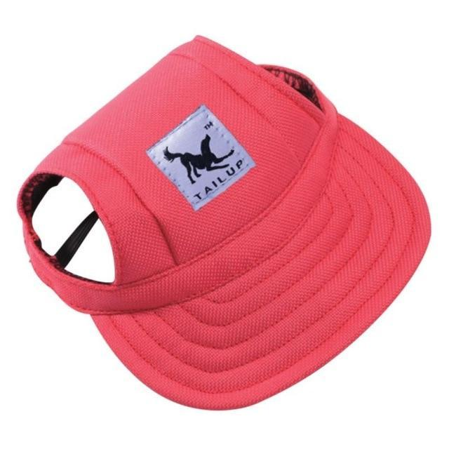 Canvas Dog Hat AmericanGalore Red S