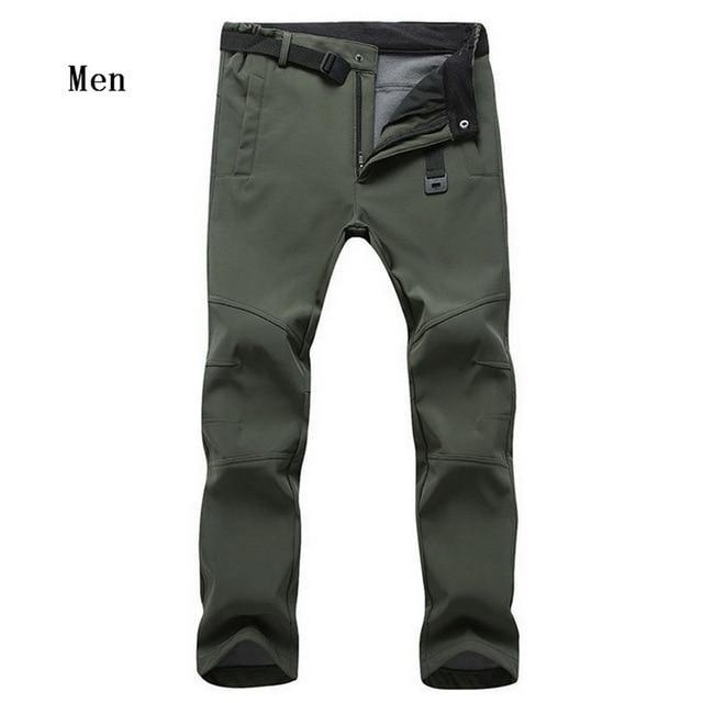 Cold-Proof Unisex Winter Pants AmericanGalore Men Army Green Asian size S