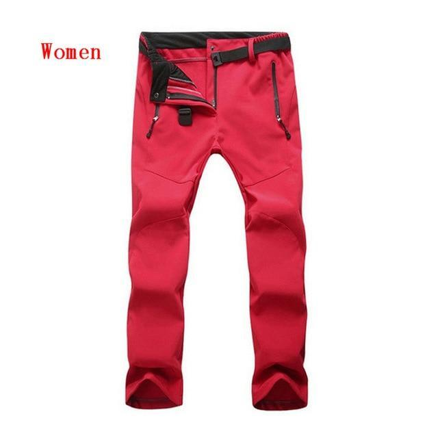 Cold-Proof Unisex Winter Pants AmericanGalore Women Red Asian size S